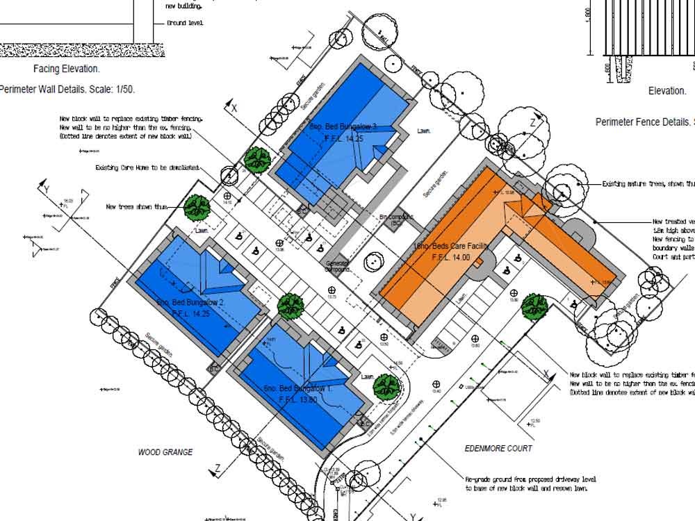 Priory care homes for sale siteplan Newtownabbey